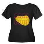S&O Up/Down Red/Yellow Women's Plus Size Scoop Nec