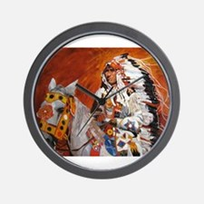 Cute Horse feathers Wall Clock