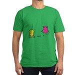 S&O Yellow/Pink Men's Fitted T-Shirt (dark)