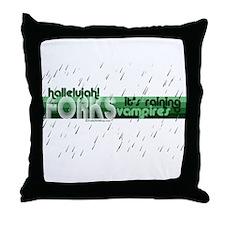 It's Raining Vampires Throw Pillow