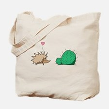Hedgehog Loves Cactus Tote Bag
