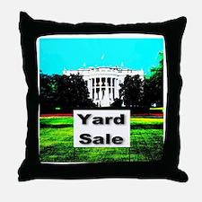 White House Yard Sale Throw Pillow