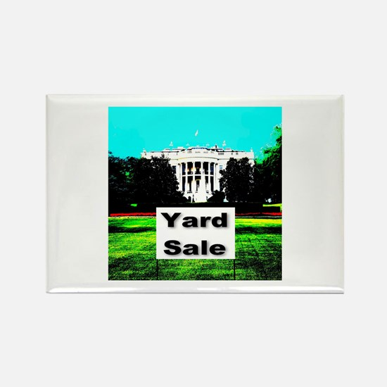 White House Yard Sale Rectangle Magnet