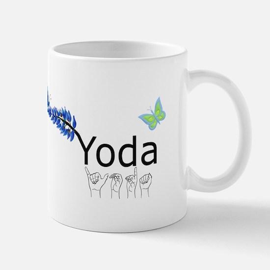 Yoda Fingerspelled Mug