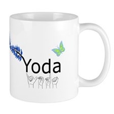 Yoda Fingerspelled Mug