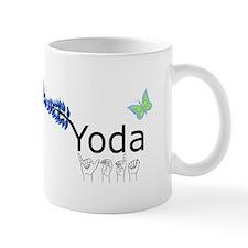 Yoda Fingerspelled Small Mug