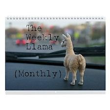 Llama Wall Calendar