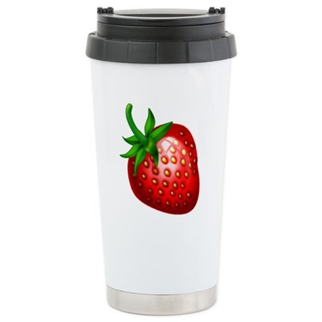 Strawberry Stainless Steel Travel Mug