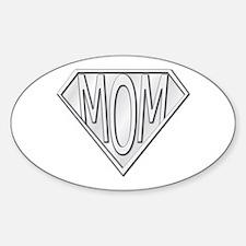 Super Mom Oval Sticker (10 pk)