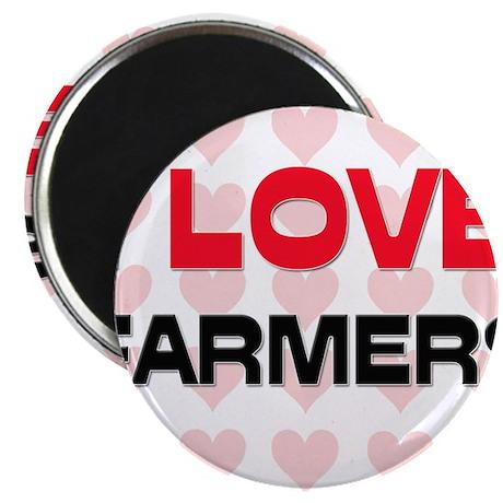 I LOVE FARMERS Magnet