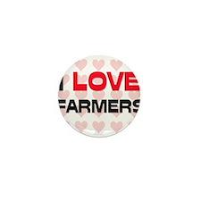 I LOVE FARMERS Mini Button