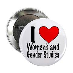 "2.25"" Button I heart Women's & Gender Stu"