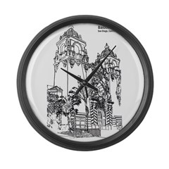 Childrens Theater by Riccoboni Large Wall Clock
