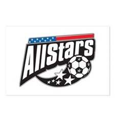 Soccer All Stars Postcards (Package of 8)