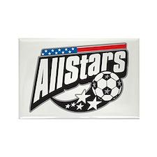 Soccer All Stars Rectangle Magnet (10 pack)