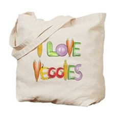Veggies canvas tote bag