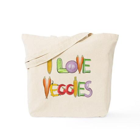 Veggies canvas tote bag
