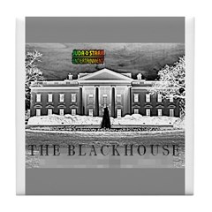 THE BLACK HOUSE Tile Coaster