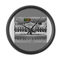 THE BLACK HOUSE Large Wall Clock