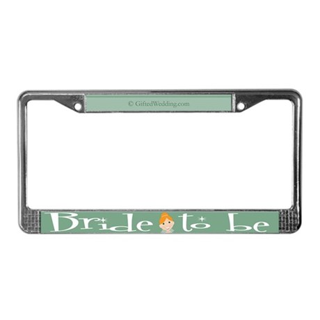 Bride To Be (rh) License Plate Frame