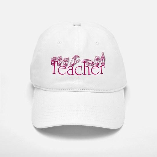 Teacher-pnk Baseball Baseball Cap