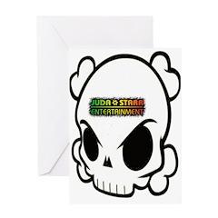 STARR SKULL Greeting Card