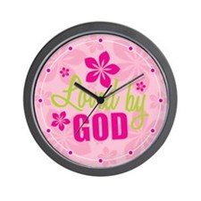 Loved By God Wall Clock