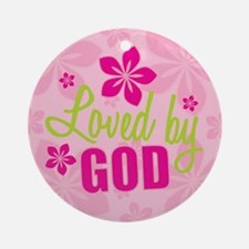 Loved By God Ornament (Round)