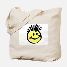 Smiley Face with Mohawk Tote Bag
