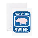 Year of the Swine Greeting Card