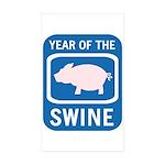 Year of the Swine Rectangle Sticker 10 pk)