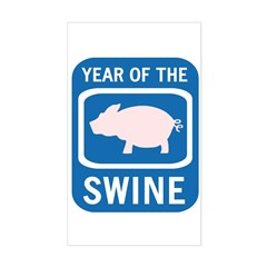 Year of the Swine Rectangle Decal
