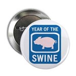 """Year of the Swine 2.25"""" Button (10 pack)"""
