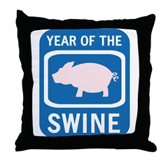 Year of the Swine Throw Pillow