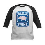 Year of the Swine Kids Baseball Jersey