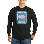 Year of the Swine Long Sleeve Dark T-Shirt