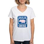 Year of the Swine Women's V-Neck T-Shirt