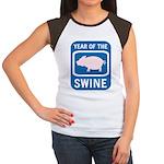 Year of the Swine Women's Cap Sleeve T-Shirt