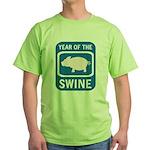 Year of the Swine Green T-Shirt