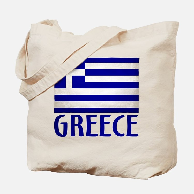 Cute Greece flag Tote Bag