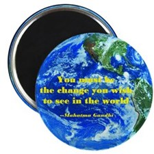 Gandhi-Be the change Magnet