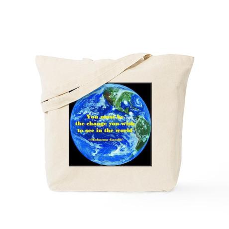 Gandhi-Be the change Tote Bag