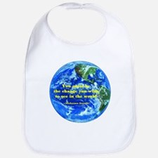 Heaven&earth are in us-Gandhi Bib