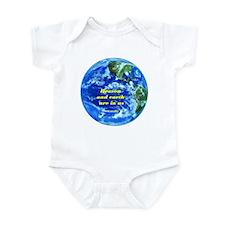 Heaven&earth are in us-Gandhi Infant Bodysuit