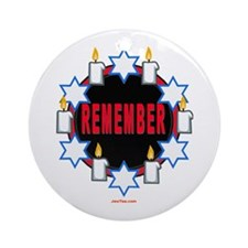 Remember Holocaust Ornament (Round)