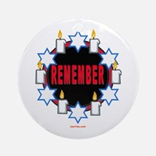 Remember Holocaust Ornament (Round)