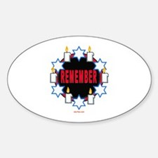 Remember Holocaust Oval Decal