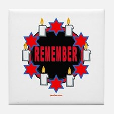 Remember Holocaust Tile Coaster
