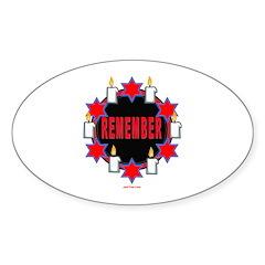 Remember Holocaust Oval Sticker