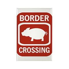 Border Crossing Rectangle Magnet